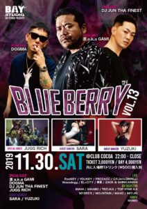 BLUE BERRY vol.13 (HipHop/Reggae) @ club COCOA