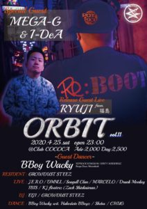 ORBIT vol.11 (HipHop) @ 函館 Club COCOA