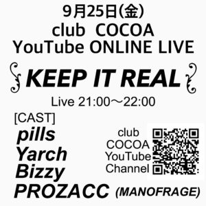 KEEP IT REAL @ 函館 club COCOA